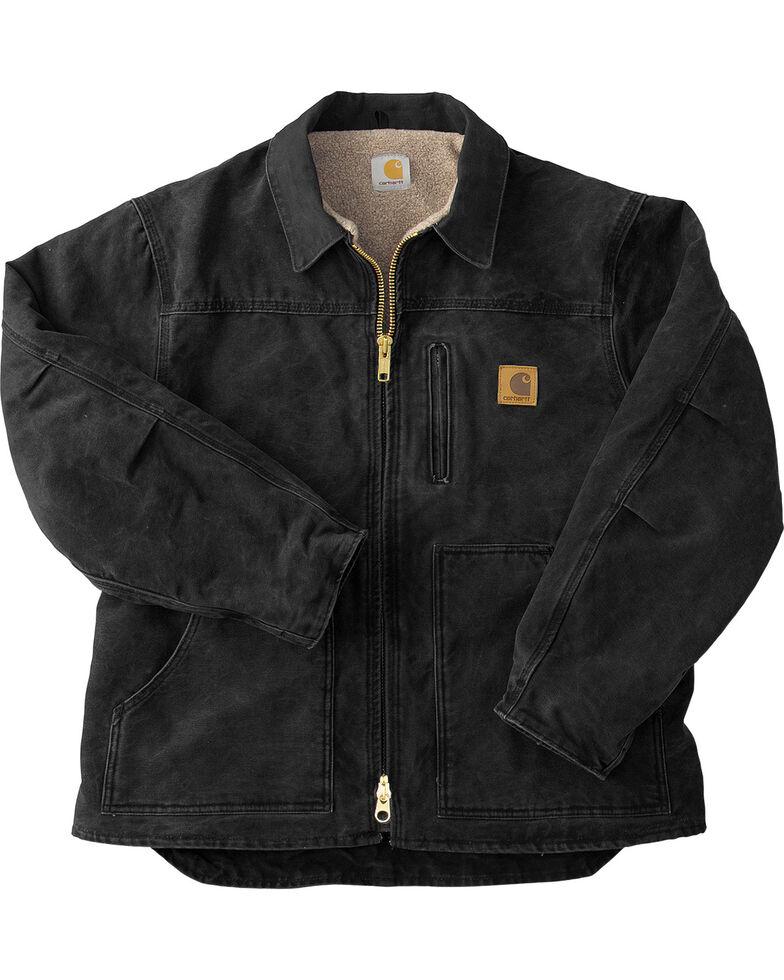 Carhartt Men's Sandstone Ridge Sherpa Lined Jacket, Black, hi-res