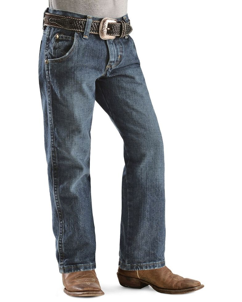 Wrangler Boy's RETRO Straight Leg Western Jeans Size 4-7, Denim, hi-res