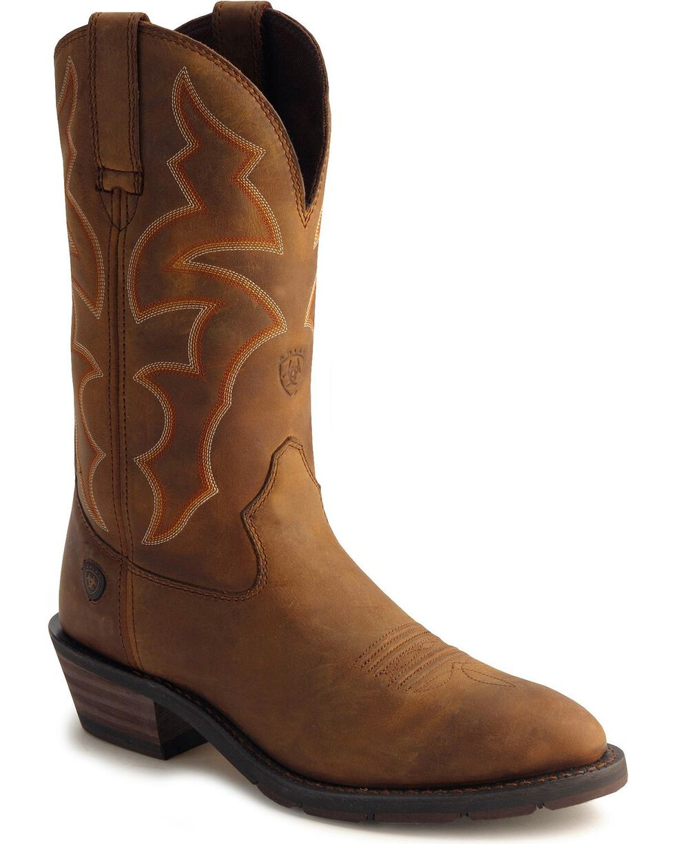 Ariat Men's Ironside H2O Work Boots, Dusty Brn, hi-res