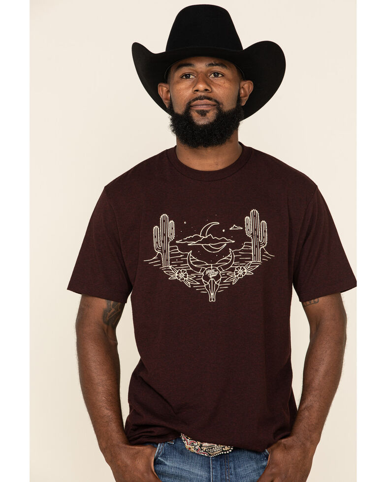 Moonshine Spirit Men's Peyote Graphic Short Sleeve T-Shirt , Burgundy, hi-res