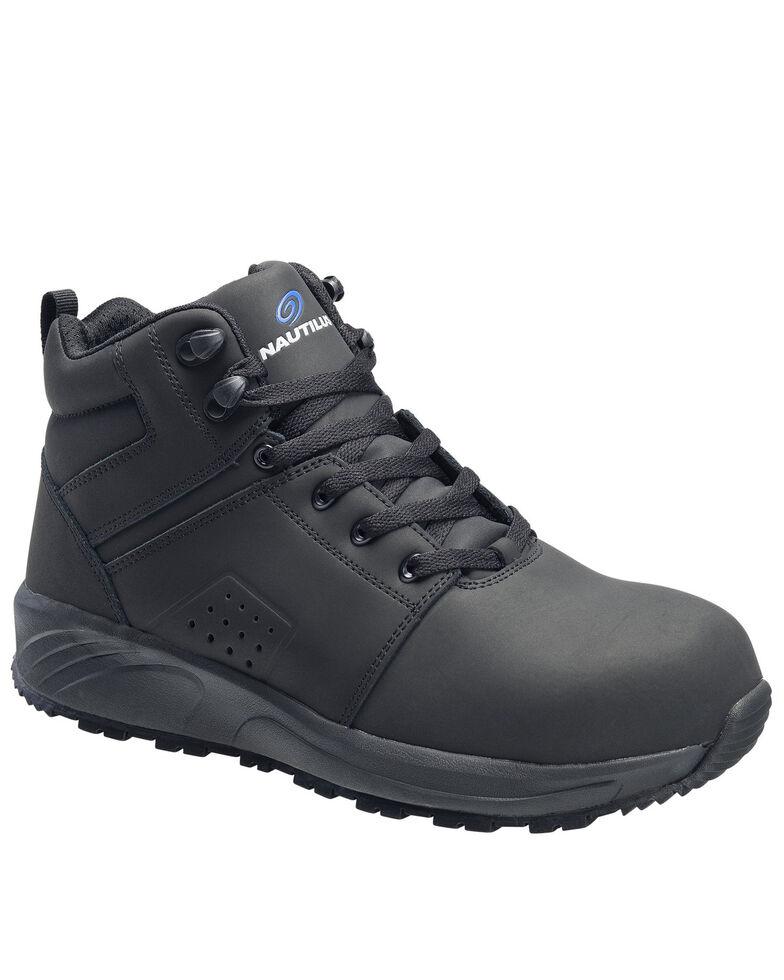 Nautilus Men's Guard Lace-Up Work Shoes - Composite Toe, Black, hi-res