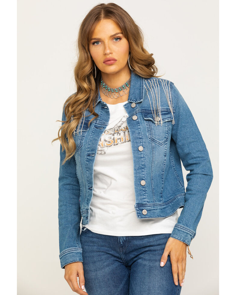 Idyllwind Women's Dolly's Denim Jacket, Blue, hi-res