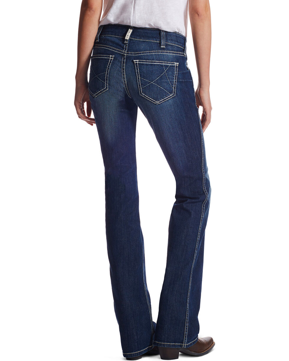Ariat Women's R.E.A.L. Ella Boot Cut Jeans, Blue, hi-res