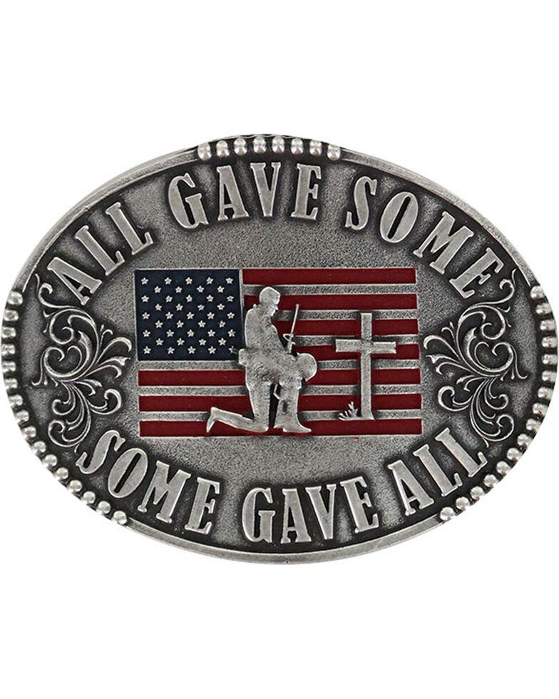 Cody James® Men's Military Memorial Belt Buckle, Silver, hi-res