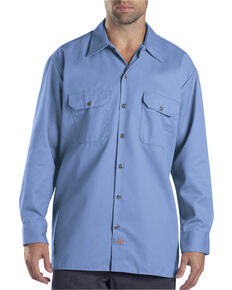 Dickies Twill Work Shirt - Big & Tall, Blue, hi-res