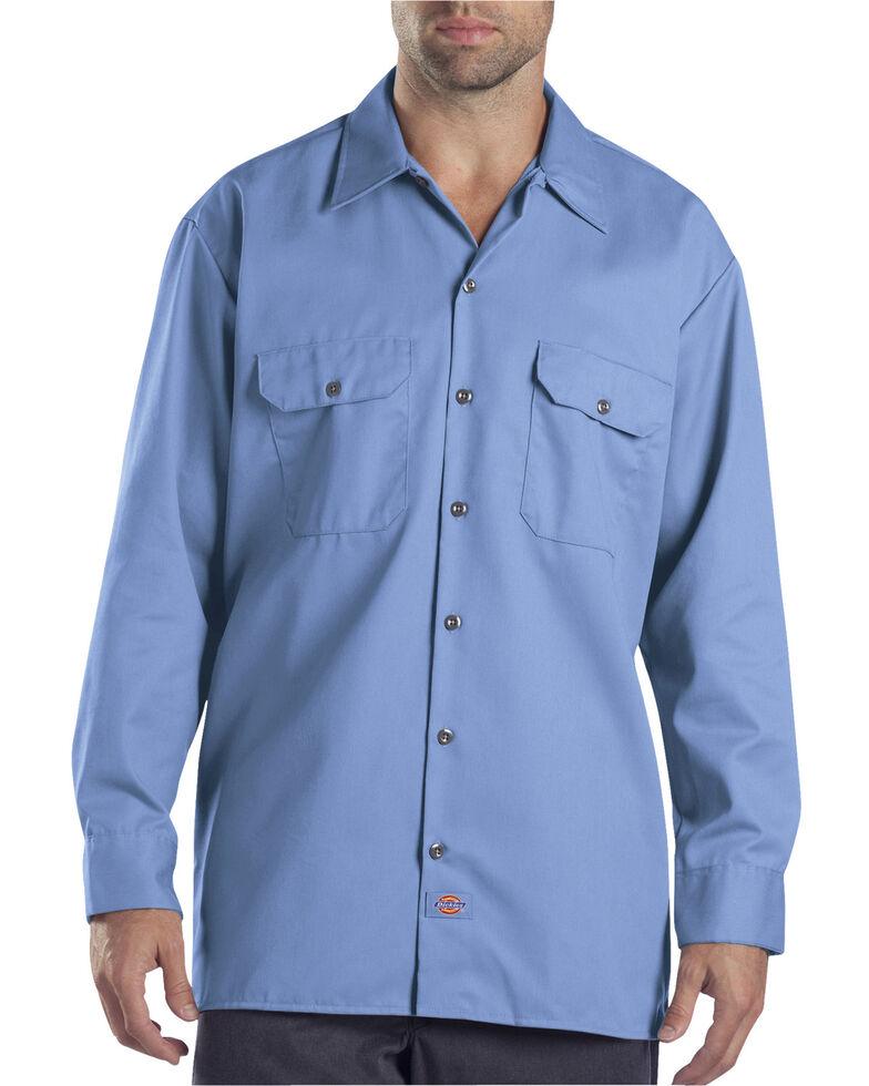 Dickies Twill Work Shirt - Big & Tall, Blue, hi-res