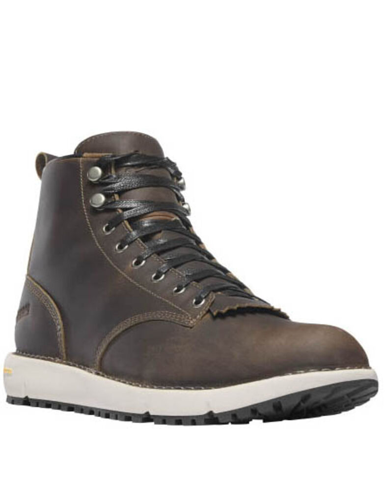 Danner Men's 917 Logger Boots - Soft Toe, Dark Brown, hi-res