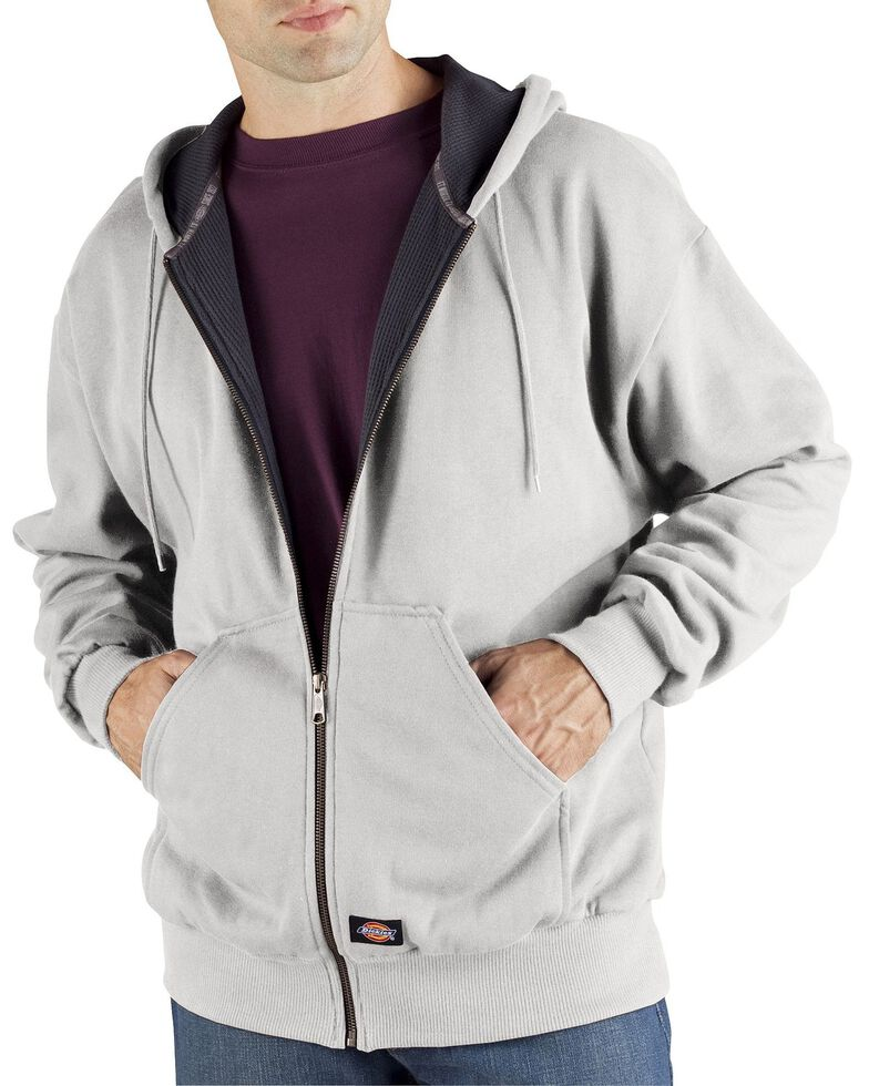 Dickies Midweight Fleece Zip-Up Hooded Work Jacket - Big & Tall, Ash Grey, hi-res