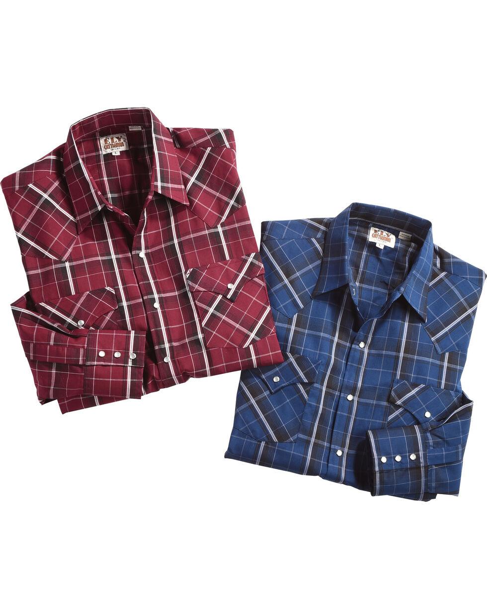 Ely Cattleman Men's Assorted Texture Plaid Western Shirt , Multi, hi-res