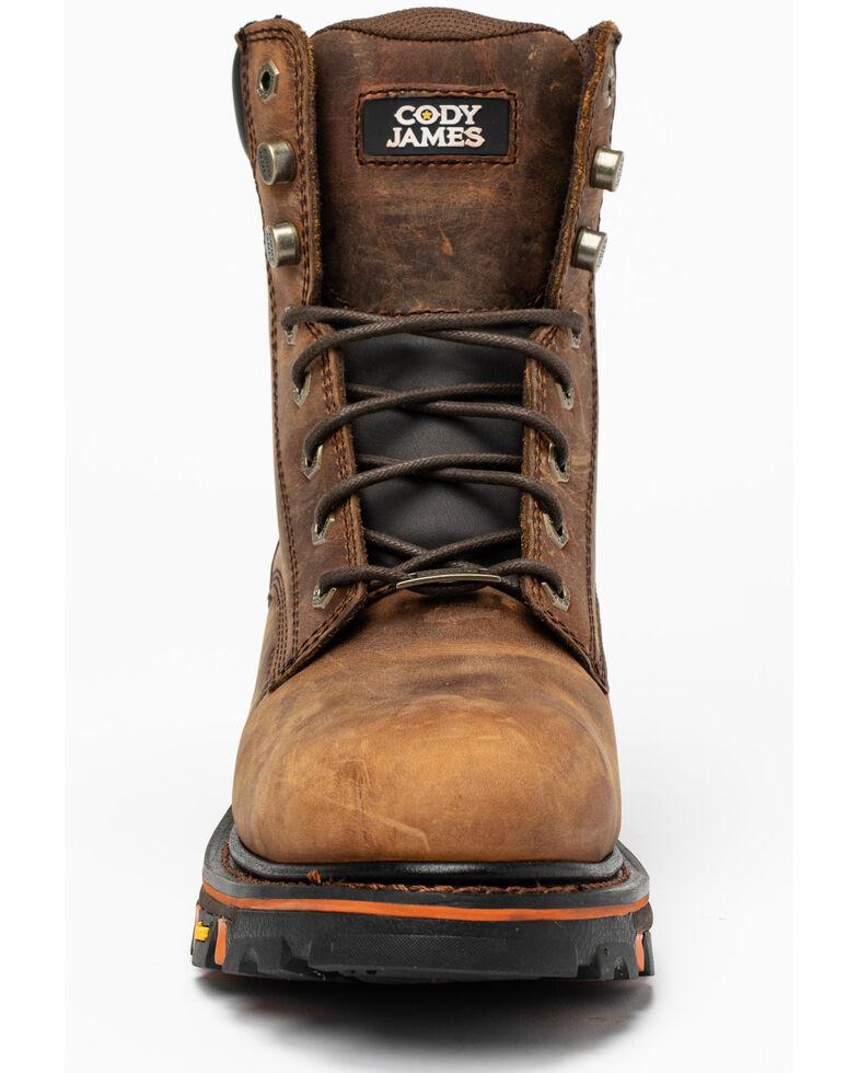 "Cody James Men's 8"" Decimator Work Boots - Soft Toe, Brown, hi-res"