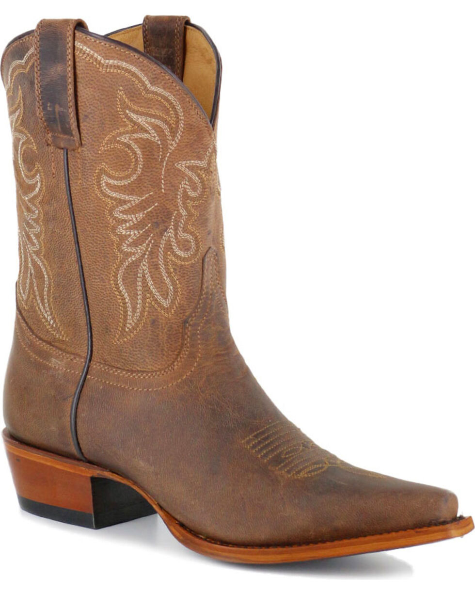 Shyanne® Women's Embroidered Snip Toe Western Boots, Brown, hi-res
