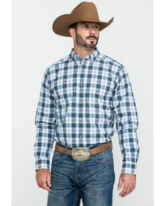 Ariat Men's Harwich Med Plaid Fitted Long Sleeve Western Shirt , Multi, hi-res