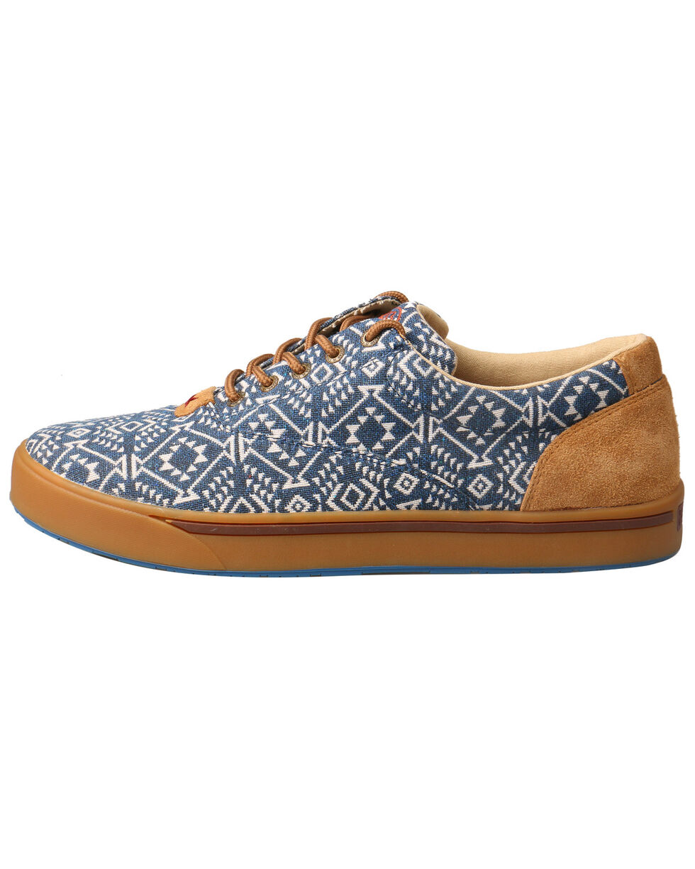 Twisted X Men's Hooey Lopers Shoes - Round Toe, Blue, hi-res