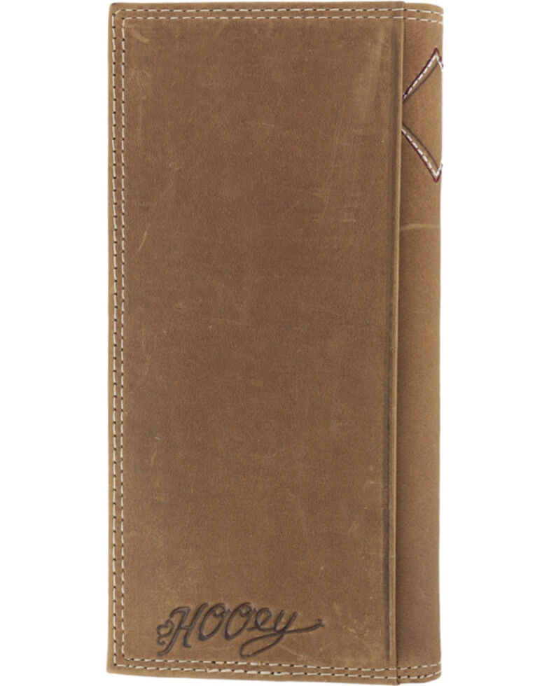 HOOey Men's Embroidered Rodeo Wallet, Brown, hi-res