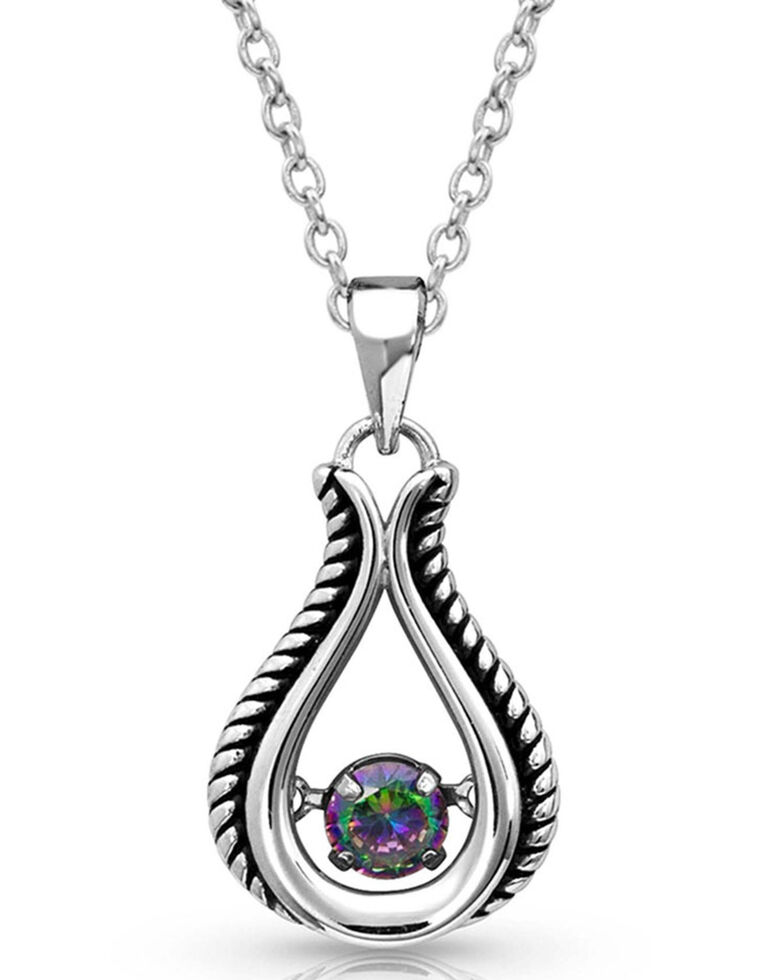 Montana Silversmiths Women's Northern Light Dancing Bud Necklace, Silver, hi-res