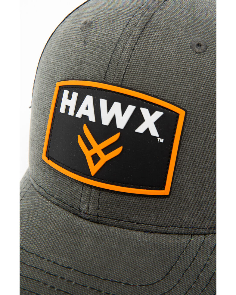 Hawx® Men's Grey Patch Logo Trucker Cap, Grey, hi-res