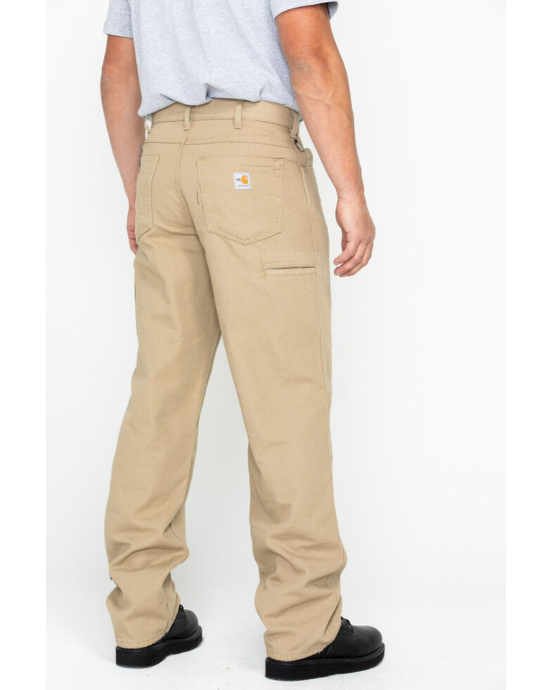Carhartt Men's Flame-Resistant Relaxed Fit Work Pants, Beige/khaki, hi-res