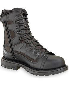 "Thorogood Men's 8"" GEN-flex2 VGS Tactical Waterproof Side Zip Work Boots, Black, hi-res"