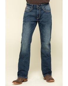 Ariat Men's M4 Denali Dark Stretch Low Relaxed Bootcut Jeans - Big , Blue, hi-res
