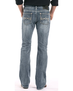 Rock & Roll Cowboy Men's Reflex Pistol Boot Cut Jeans, Light Blue, hi-res