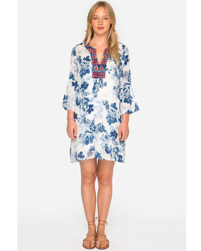 Johnny Was Women\'s Blue Flare Sleeve Tunic Dress - Plus Size