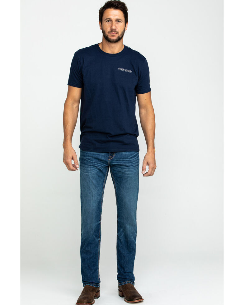 Ariat Men's M8 Pasadena Modern Low Stretch Slim Jeans , Blue, hi-res