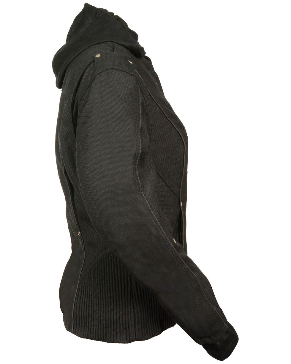 Milwaukee Leather Women's Reflective Tribal 3/4 Textile Jacket - 5X, Black, hi-res