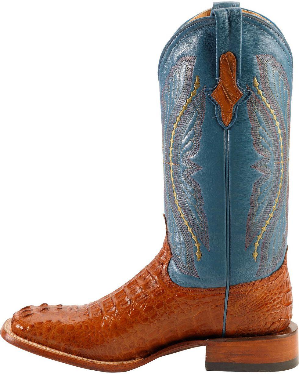 Ferrini Men's Caiman Crocodile Exotic Western Boots, Cognac, hi-res