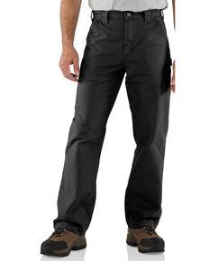 Carhartt Men's Dungaree Canvas Work Pants - Big, Black, hi-res
