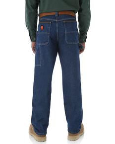 Wrangler Riggs Men's Relaxed Carpenter Work Jeans - Big  , Blue, hi-res