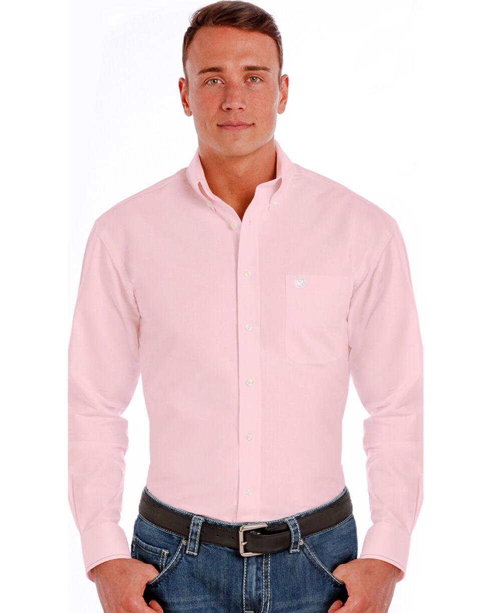 Panhandle Men's Classic Printed Long Sleeve Shirt, Pink, hi-res