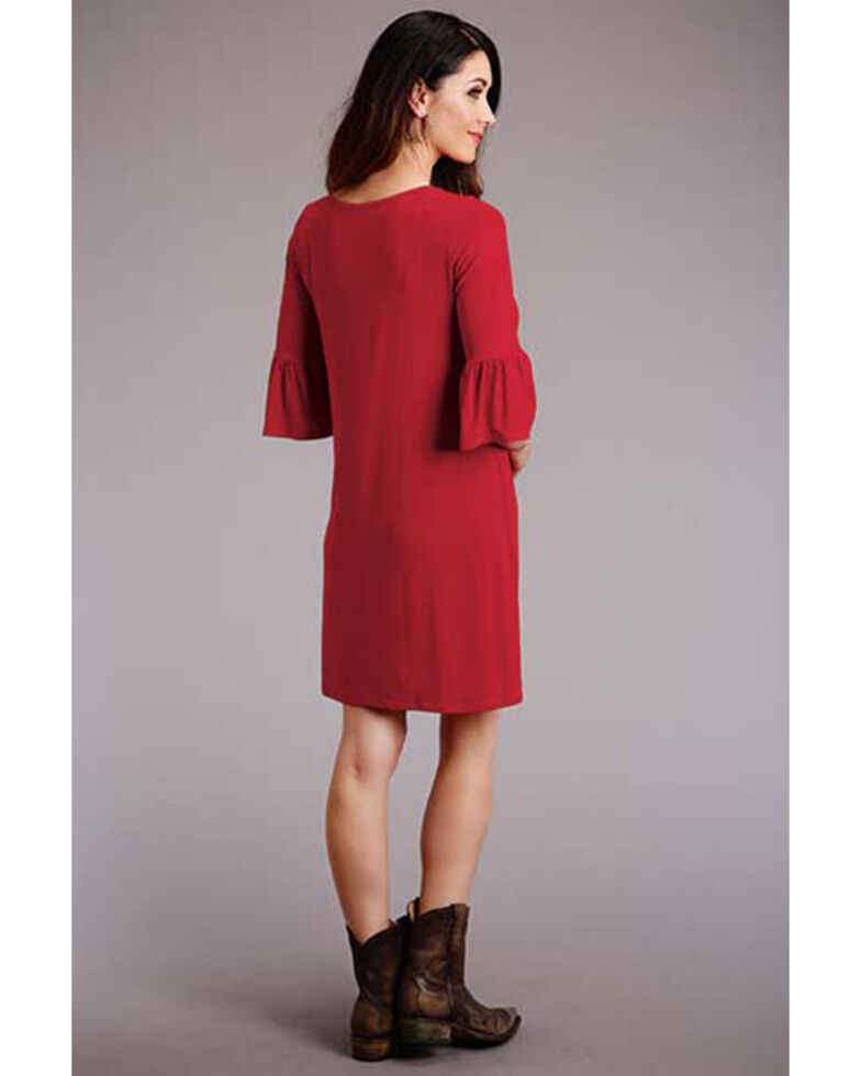 Stetson Women's Red Keyhole T-Shirt Dress , Red, hi-res