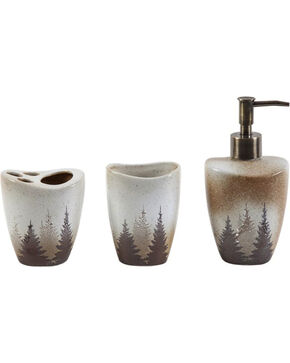 HiEnd Accents Clearwater Pines 3-Piece Bathroom Set, Multi, hi-res