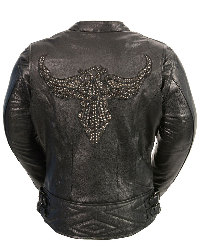 Milwaukee Leather Women's Concealed Carry Embroidered Phoenix Leather Jacket - 5X, , hi-res