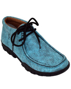 Ferrini Women's Rogue Turquoise Shoes - Moc Toe, Turquoise, hi-res