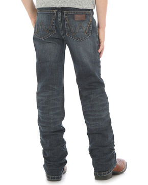 Wrangler Retro Boys' Slim Straight Jeans (4-7), Indigo, hi-res