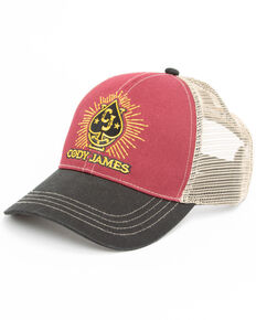 Cody James Men's Ace In The Hole Logo Patch Cap , Burgundy, hi-res