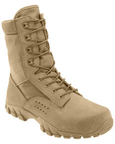 Bates Men's Cobra Jungle Tactical Work Boots - Soft Toe, Tan, hi-res