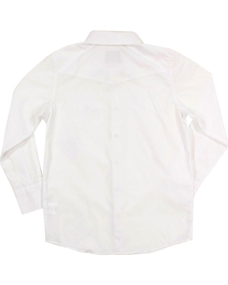 Gibson Trading Co. Boys' White Water Long Sleeve Snap Western Shirt, White, hi-res