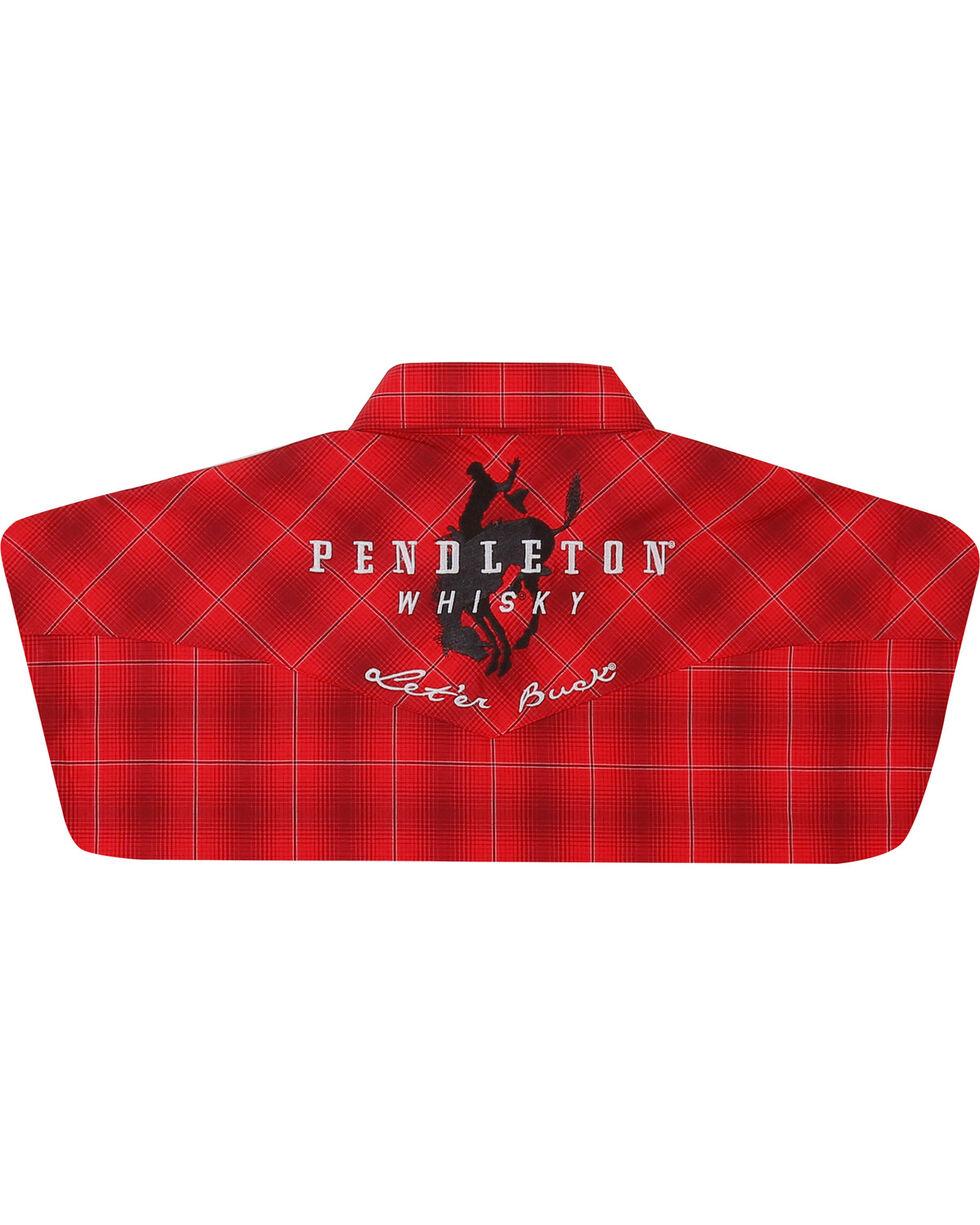 Wrangler Men's Red Pendleton Whisky Logo Shirt , Red, hi-res