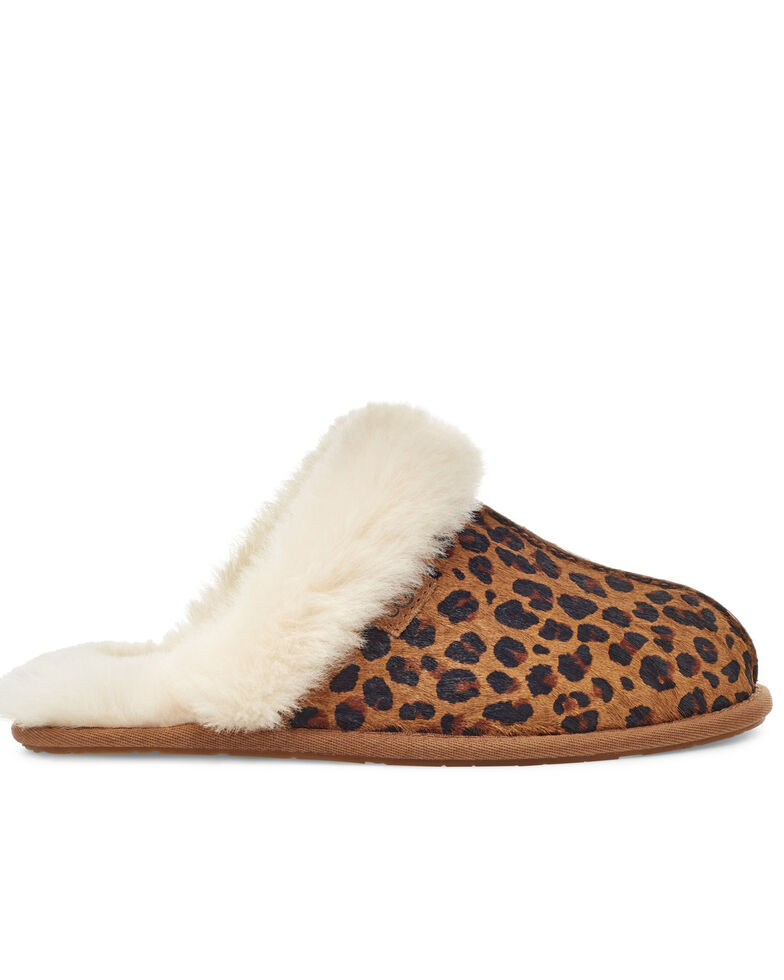 UGG Women's Leopard Scuffette II Slippers, Natural, hi-res