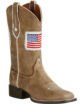 Ariat Women's Patriot Western Boots, Sand, hi-res
