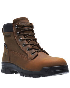 Wolverine Men's Chainhand Waterproof Work Boots - Soft Toe, Brown, hi-res