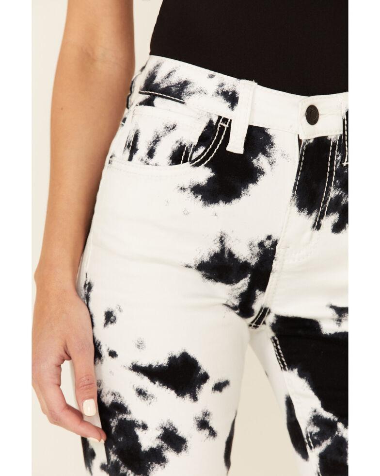 Shyanne Women's Tie-Dye Print Flare Leg Jeans, White, hi-res