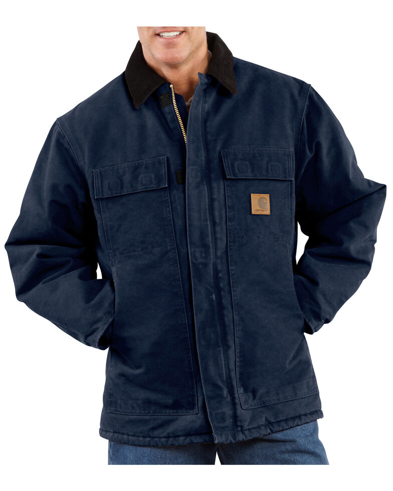 Carhartt Men's Sandstone Traditional Arctic Quilt Lined Coat, Midnight, hi-res