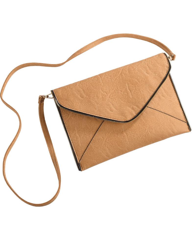 Wear N.E. Wear Women's Envelope Clutch/Crossbody Bag, Brown, hi-res