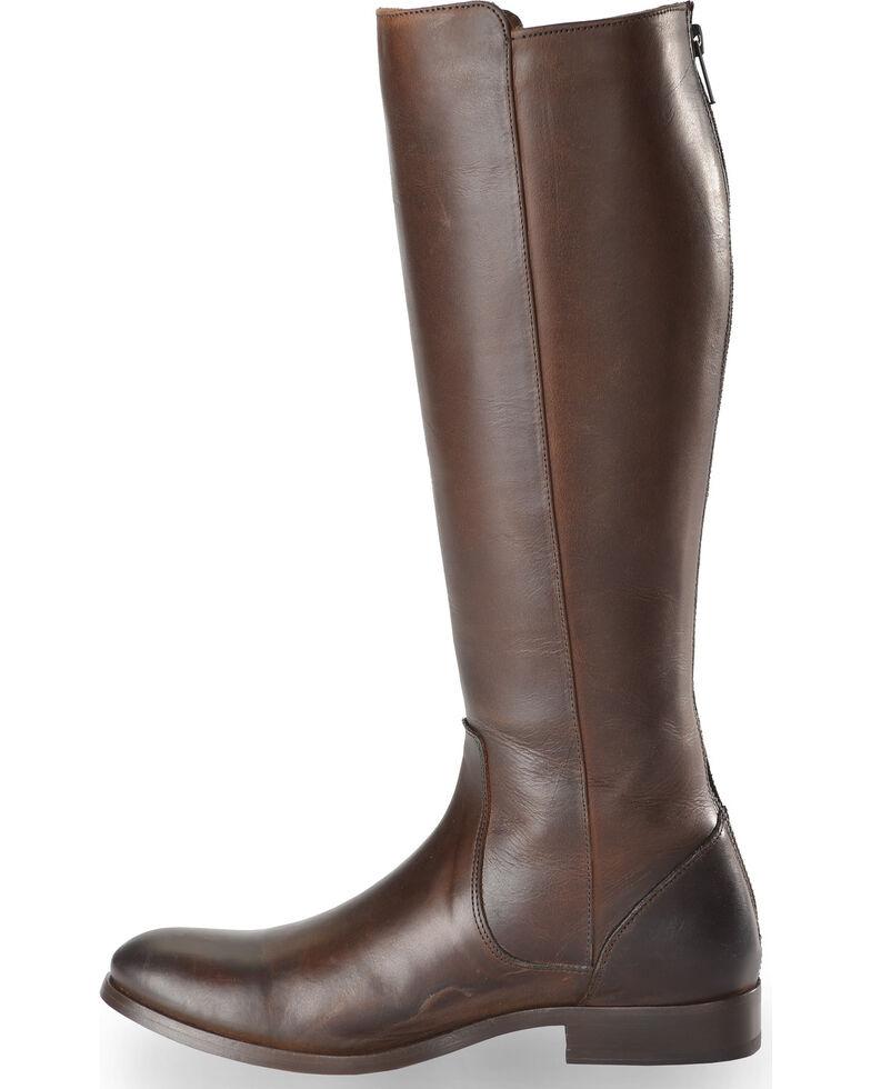 b1dcc5bcac4 Frye Women s Chocolate Melissa Stud Back Zip Boots - Round Toe ...