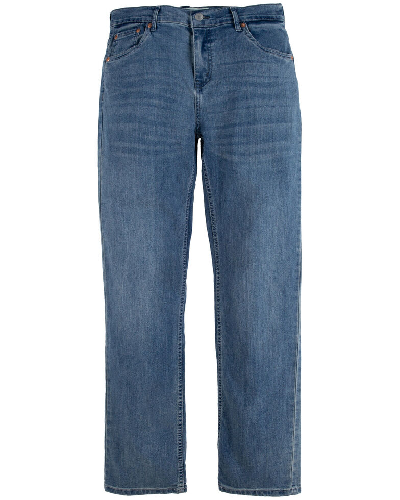 Levi's Boys' 514 Vintage Racer Wash Straight Leg Jeans , Medium Blue, hi-res