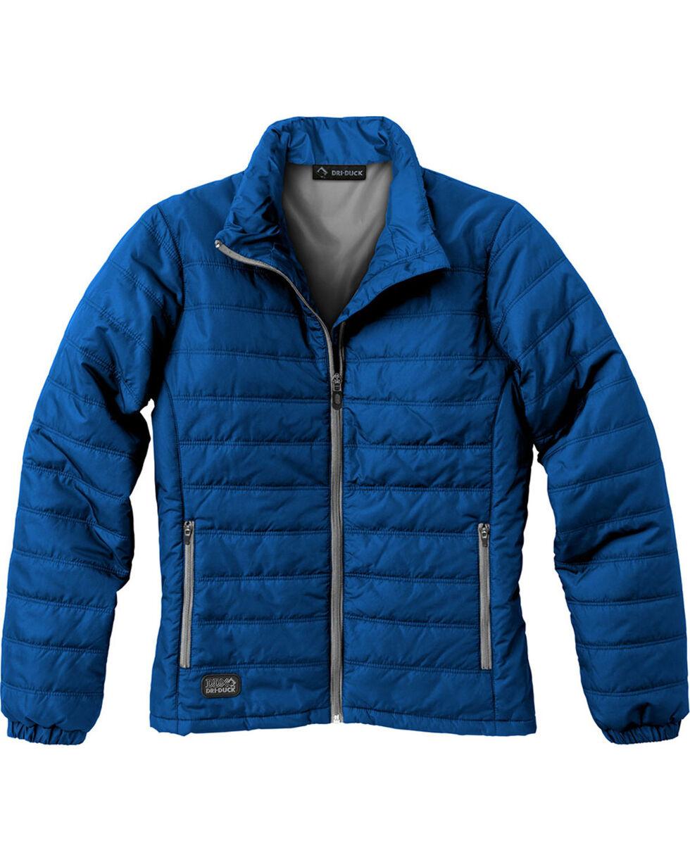 Dri Duck Women's Belay Therma Puff Jacket, Blue, hi-res