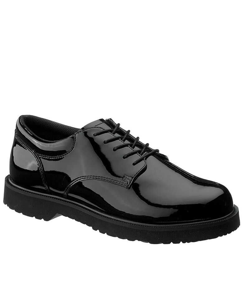 Bates Men's High Gloss Duty Oxford Shoes, Black, hi-res